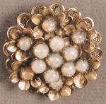 Click here to enlarge image and see more about item JVCPL41: Vintage Pinky Faux Opal Flower Pin and Pendant