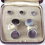 Vintage Heller Cufflinks Button Set Original Box