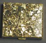 Click to view larger image of Vintage Gold Glitter Compact (Image1)