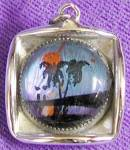 Vintage Butterfly Wing Small Pendant