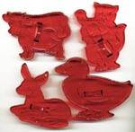 Vintage Animals Cookie Cutters with Crown