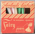 Vintage Fairy Peppermint Scented Birthday Candles