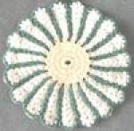 Click here to enlarge image and see more about item KG15: Vintage Crocheted Pot Holders Set of 2