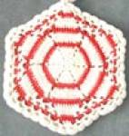 Vintage Crocheted Red & Blue Pot Holders