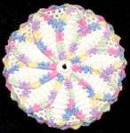 Vintage Crocheted Multicolor Pot Holder