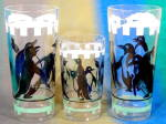 Vintage Penguin Drinking Glasses Set of 3
