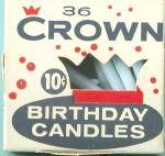 Click to view larger image of Vintage Betty Bolling & Crown Birthday Cake Candles  (Image2)