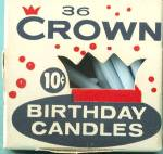 Click here to enlarge image and see more about item KGEN140: Vintage Birthday Cake Candles By Crown