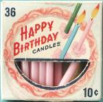 Vintage Happy Birthday Cake Candles