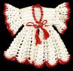 Click to view larger image of Vintage Red & White Robe & Pajama Hot Pad/ Pot Holders (Image1)