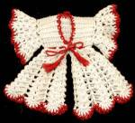 Click to view larger image of Vintage Red & White Robe & Pajama Hot Pad/ Pot Holders (Image2)