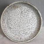Click to view larger image of Vintage 2 Tone Gray Graniteware Pie Plate (Image1)