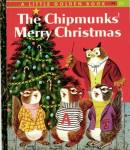 Click here to enlarge image and see more about item LGB1: The Chipmunks Merry Christmas Little Golden Book