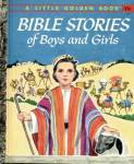 Click here to enlarge image and see more about item LGB21: Bible Stories for Boys & Girls Little Golden Book