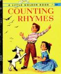 Click here to enlarge image and see more about item LGB2: Counting Rhymes Little Golden Book 1st Ed
