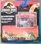 Click here to enlarge image and see more about item MM44: Kenner Jurassic Park Die Cast Dinosaur Figures 2 Cards