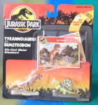 Click here to enlarge image and see more about item MM45: Kenner Jurassic Park Die Cast Dinosaur Figures 2 Cards
