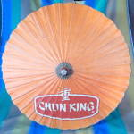 Click here to enlarge image and see more about item AFG118: Vintage Chun King Food Large Paper Umbrella Advertising
