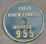 Click here to enlarge image and see more about item MVA9: Vintage Metal Bicycle License Plate