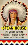 Click here to enlarge image and see more about item NAP13: Knott's Berry Farm Steak House In Ghost Town Restaurant