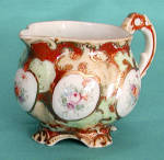 Click here to enlarge image and see more about item OA2: Vintage Rose Canton Cream Pitcher