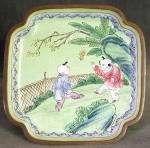 Click here to enlarge image and see more about item OAVCL4: Vintage Enamel Ware Tray