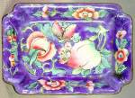 Click here to enlarge image and see more about item OAVCL9: Vintage Blue Enamel Ware Dish