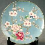 Blue Oriental Bird Plate