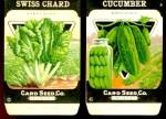 Vintage Vegetable Seed Packets Cucumber & Swiss Chard