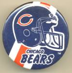 Chicago Bears Football Team Helmet Pinback