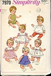 Click here to enlarge image and see more about item PAT48: Vintage #7970 Simplicity Baby Doll Wardrobe Pattern