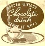 Vintage Borden Wieland Chocolate Flavored Drink Recipes