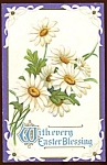 Click here to enlarge image and see more about item PE2: Vintage Easter Postcard Daisies