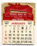 Click here to enlarge image and see more about item PEC2: Mobile Inc. 1977 Calendar