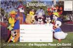 Click here to enlarge image and see more about item PEPRUS4: Fold Out Souviner Postcard Booklet Disneyland