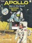 Click here to enlarge image and see more about item PEVCOL1: Vintage Apollo Man on the Moon Coloring Book