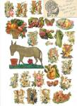 Click here to enlarge image and see more about item PEVG29: German Die Cuts & Miscellaneous Paper Items Part 1