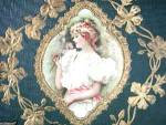 Click to view larger image of Vintage Embossed Scrapbook With Lady (Image2)