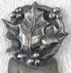 Vintage Sterling Holly Bookmarker