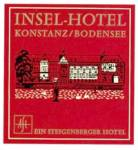 Click here to enlarge image and see more about item PEVLL124: Vintage Luggage Label: Hotel Insel Konstanz/Bodensee