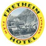 Vintage Luggage Label: Norway Fretheim Hotel
