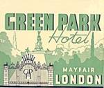 Vintage Luggage Label: Green Park Hotel Mayfair London