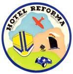 Vintage Luggage Labels: Hotel Reforma Mexico