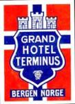 Vintage Luggage Label:Grand Hotel Terminus