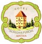 Vintage Luggage Label:Hotel Schloss Fuschl Austria
