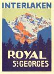 Vintage Luggage Label: Interlaken Royal St. Georges