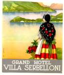 Vintage Luggage Label:Grand Hotel Villa Serbelloni
