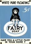Click here to enlarge image and see more about item PR30: Vintage Porcelain Fairy Soap Enamel Sign