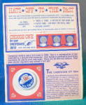 Click here to enlarge image and see more about item PG26: Lyndon Baines Johnson  Sweepstakes Card with LBJ