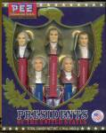 Click here to enlarge image and see more about item PG33: PEZ Candy Presidents of The United States Dispensers